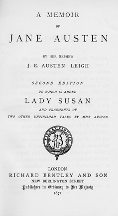 Memoir of Jane Austen (Ricordo di Jane Austen), 1871