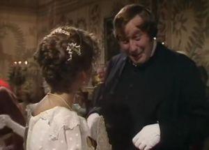 Elizabeth Garvie e Malcolm Rennie in P&P, BBC 1980
