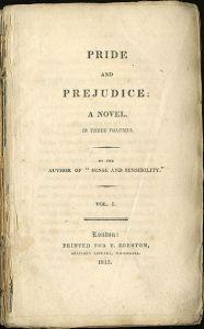 Pride and Prejudice, frontespizio prima edizione