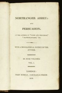 Persuasion First Edition Jane Austen