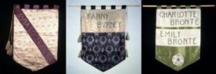 Burney Bronte, Edgeworth NUWSS banner