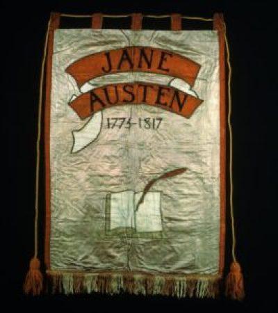 1908 NUWSS march, Jane Austen banner