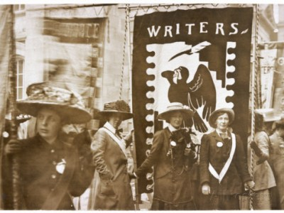 Women Writers' Suffrage League banner
