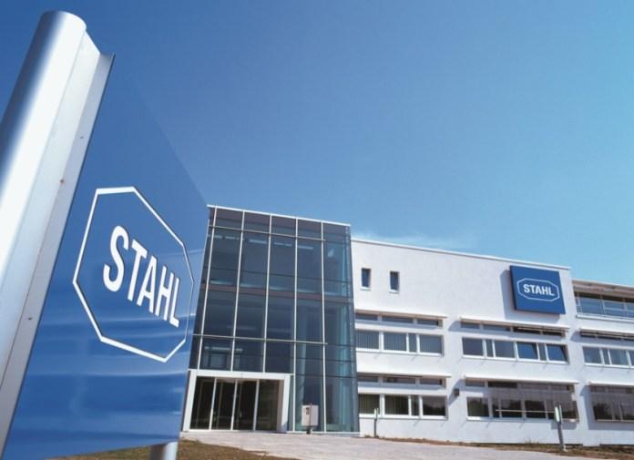 Firmengebäude von R. Stahl in Waldenburg