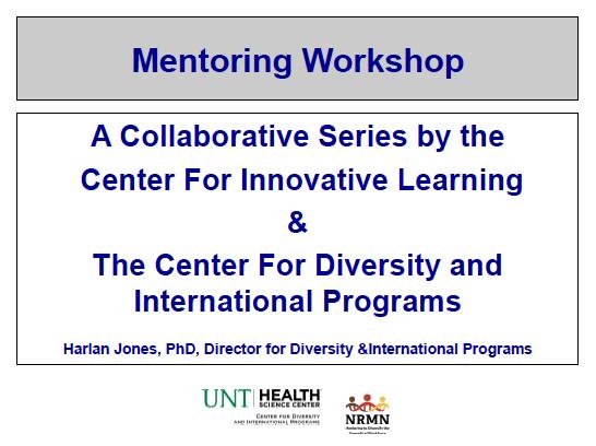 Mentoring UNTHSC slide 1