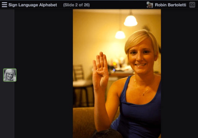 Sign Language Alphabet in VoiceThread