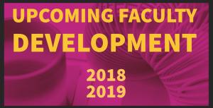 faculty development banner