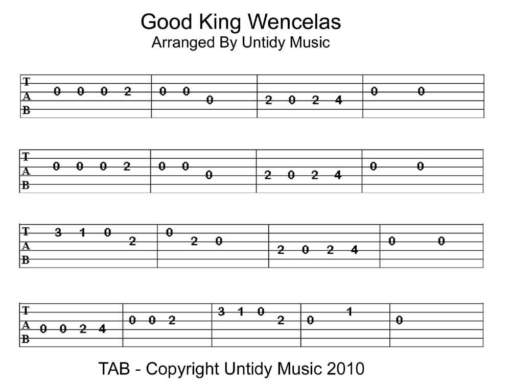Good Easy Guitar Tabs For Beginners : good king wencelas tab untidy music ~ Russianpoet.info Haus und Dekorationen