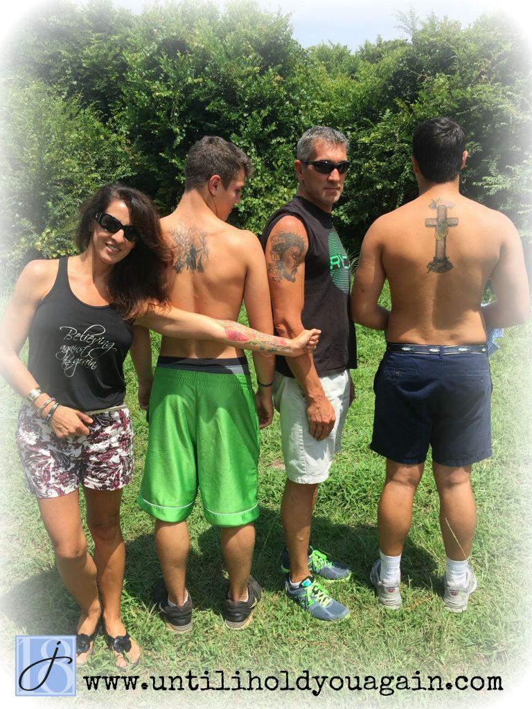 grief, family memorial tattoo,