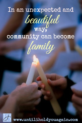 When a community grieves along with a family it is elevated far above simply a place where people live and shop and go to school. I have seen this with my own eyes and it is a beautiful, wonderful thing to behold and an even more wonderful thing to absorb as a bereaved parent.