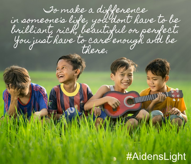 Aiden's Light Memorial Fund, Be the light, make a difference, soccer balls for Christ, spead the gospel through soccer