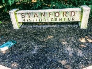 Stanford Visitor Center sign