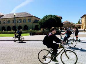 Bikers at Stanford