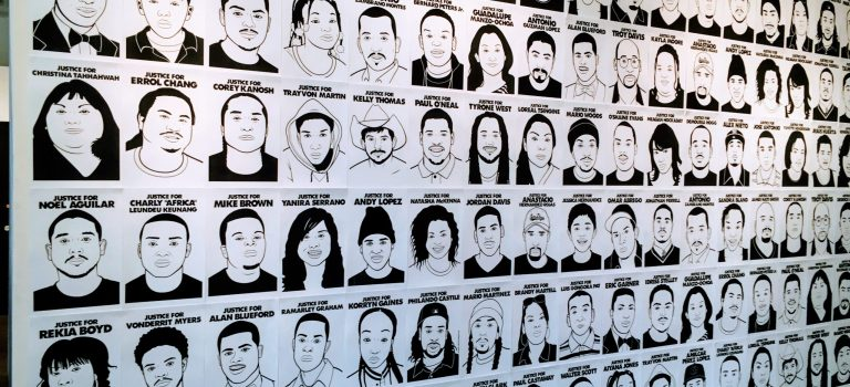 Posters from Oree Originol honoring People of Color killed by law enforcement
