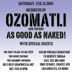 OZOMATLI, As Good As Naked!
