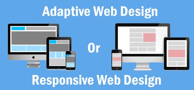 Responsive Or Adaptive Web Design Untitled