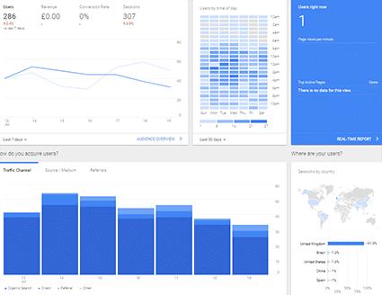Google Analytics Snapshot