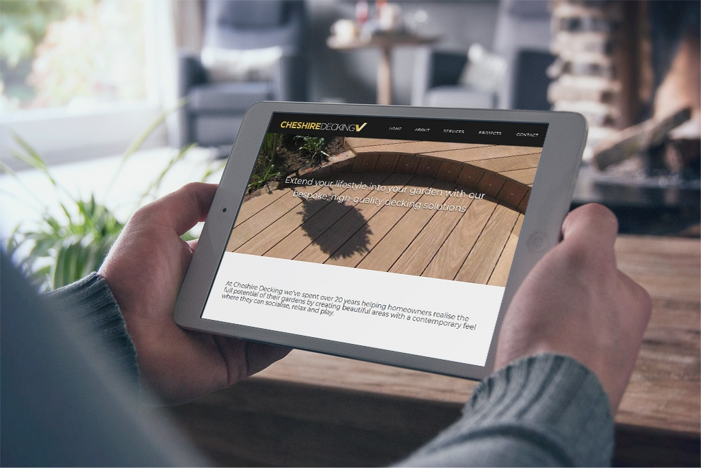 Cheshire Decking appoint website design agency untitled™ to create their first business website