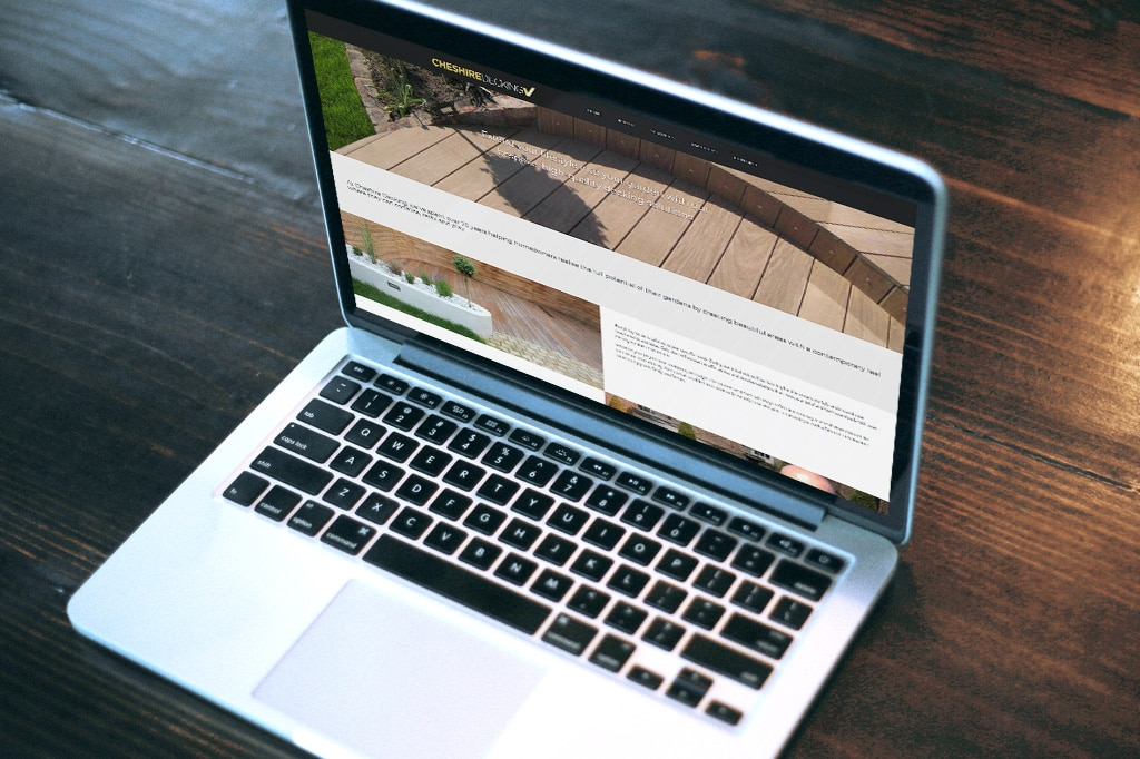 WordPress specialists untitled™ deliver the first Cheshire Decking website