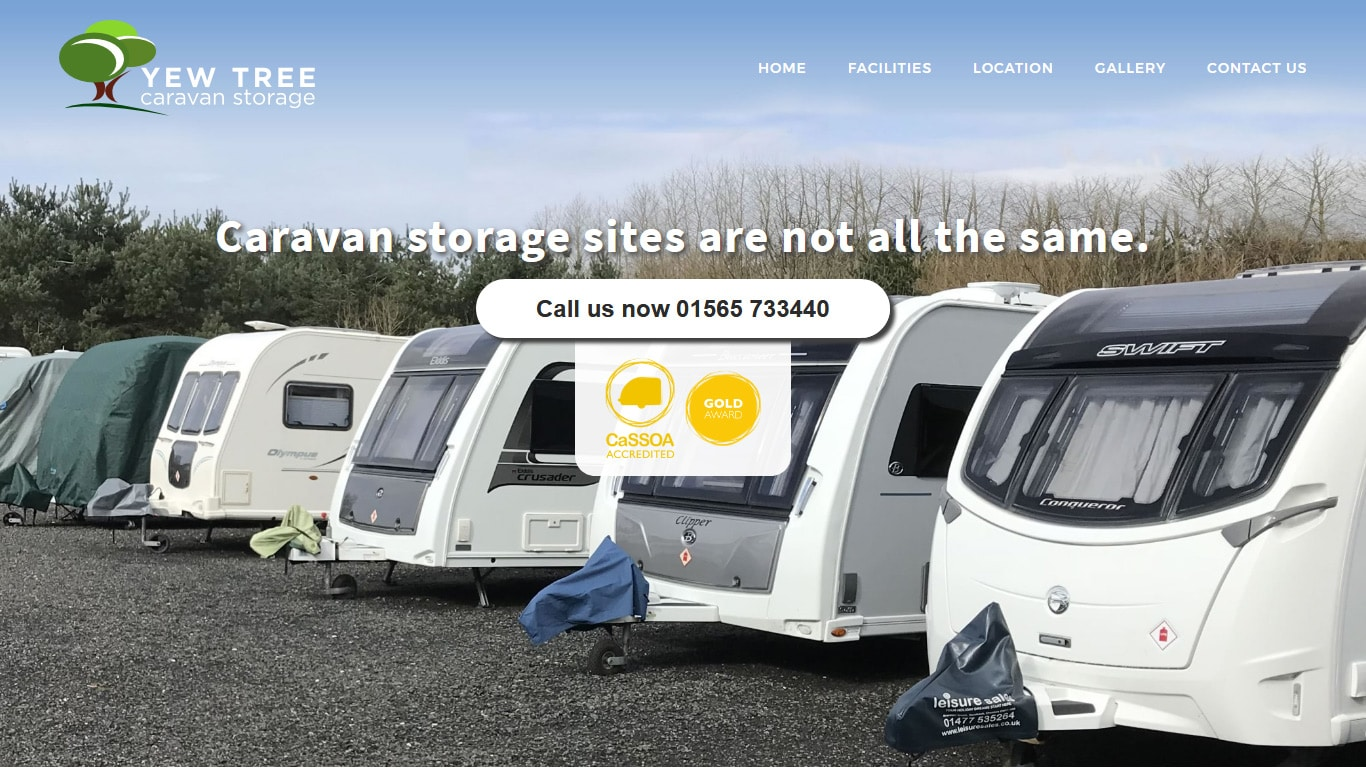 Yew Tree Caravan Storage Website