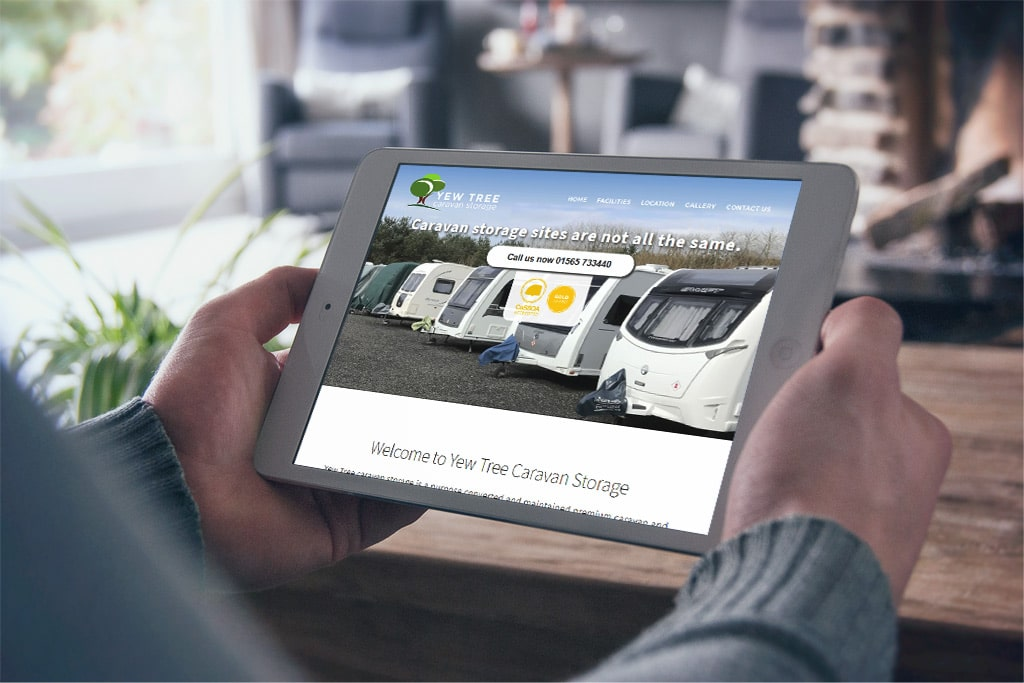 Yew Tree Caravan Storage Responsive Website