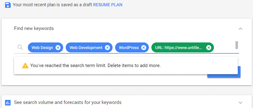 Google Keyword Planner Find New Keywords Cheshire Web Design