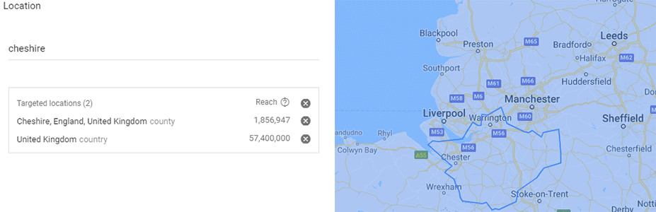 Google Keyword Planner Cheshire Web Design Location