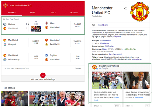 Google Posts Sports Team Example