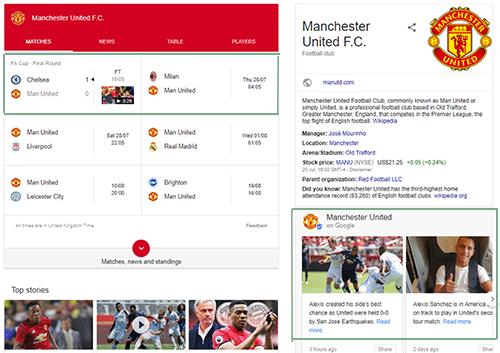 Google Posts Sports Team Example
