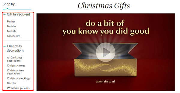 Christmas Landing Page Example