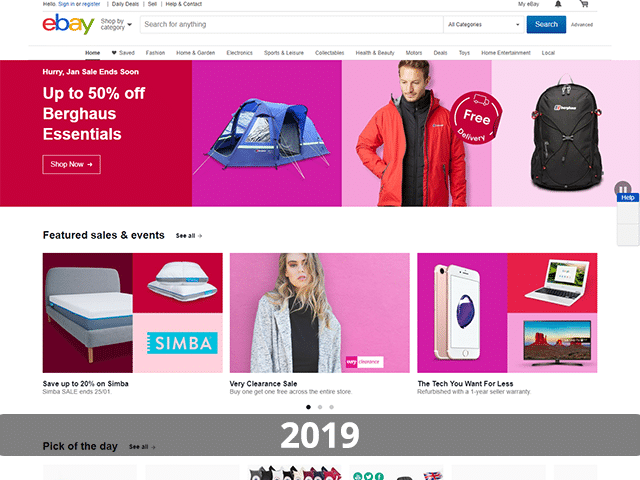 Ebay Website in 2019