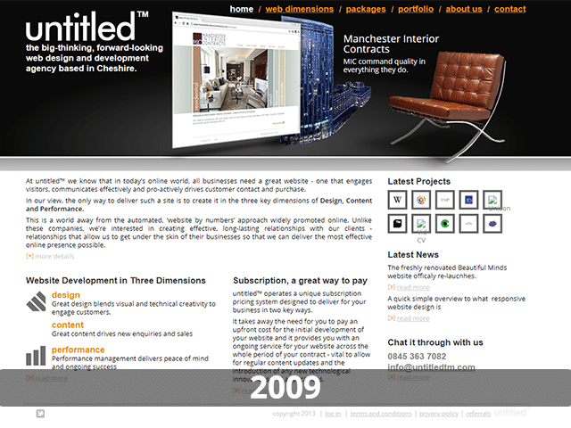 untitled™ Website 2009