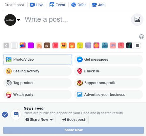 Facebook Business - Write a Post