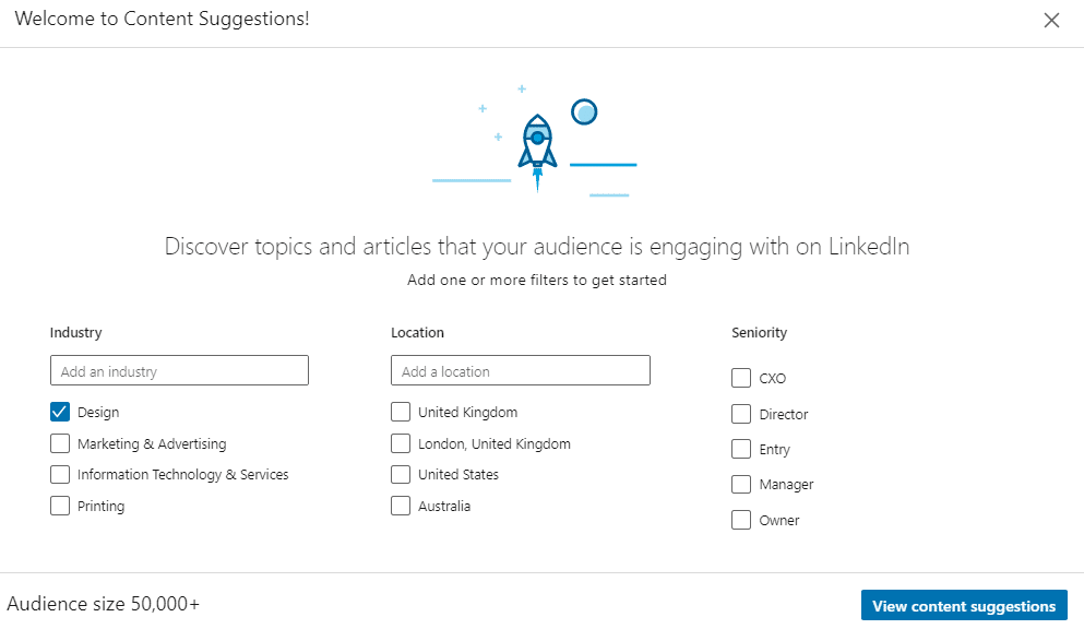 LinkedIn Analytics Content Suggestions