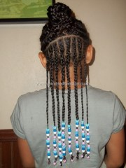 cornrows and beads hairstyle