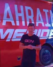Bahrain-Merida Bus Tour   Giro d'italia 2017