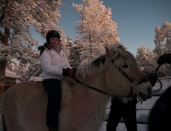 A cavallo in Lapponia