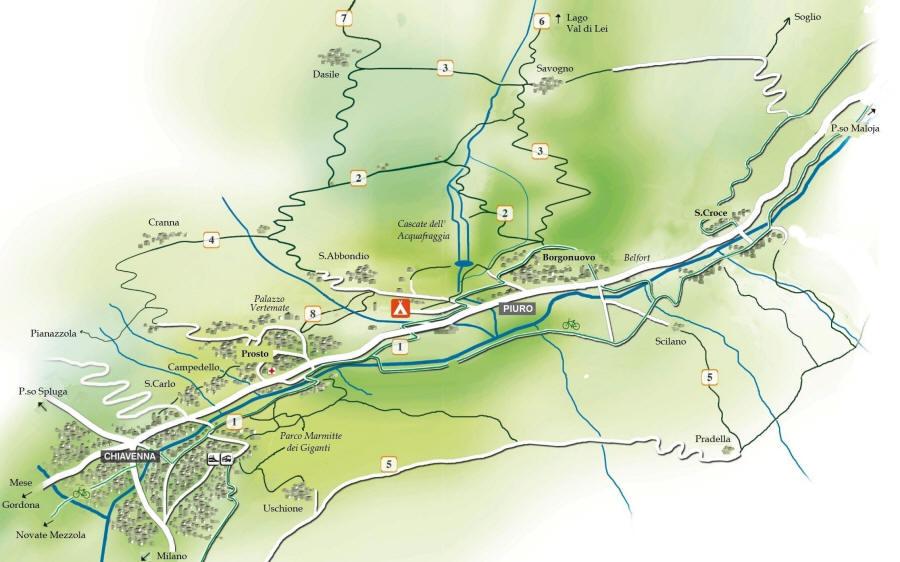 Cartina Valle dell'Acquafraggia