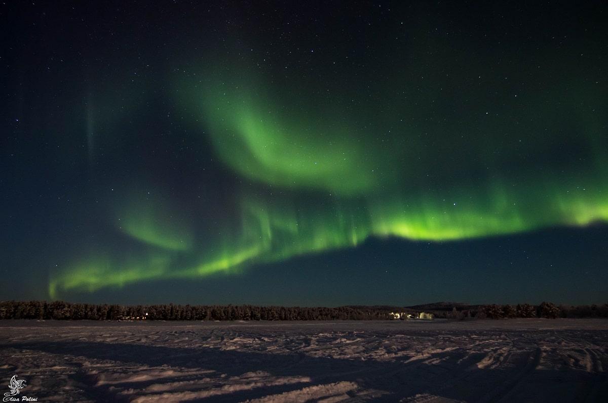 Cosa vedere a Inari: Aurora Boreale sul lago Inarijarvi