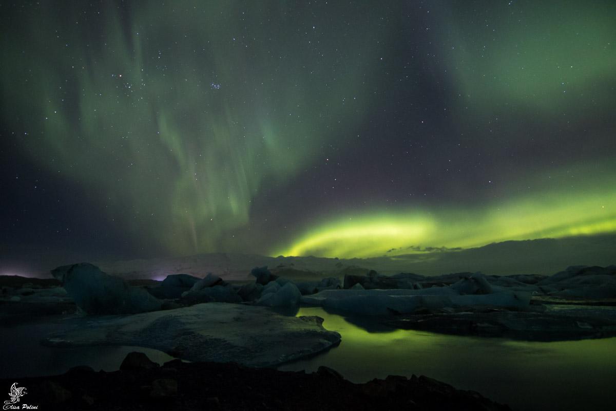 Viaggio in Islanda: Aurora Boreale a Jökulsárlón