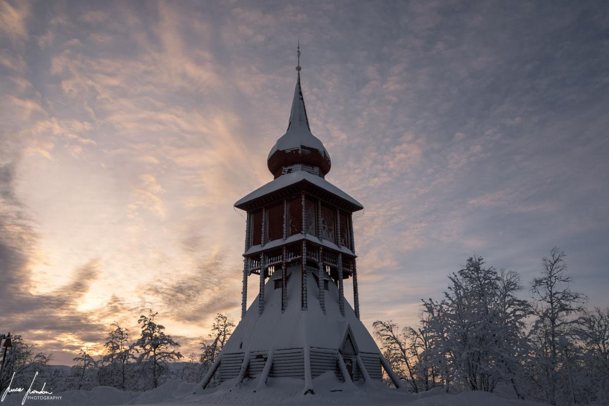 Il campanile della Chiesa di Kiruna
