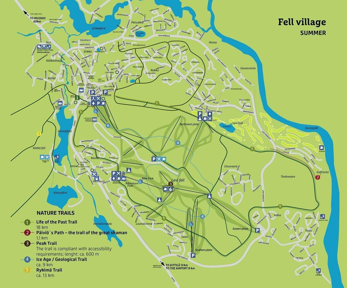 Mappa di Levi estate