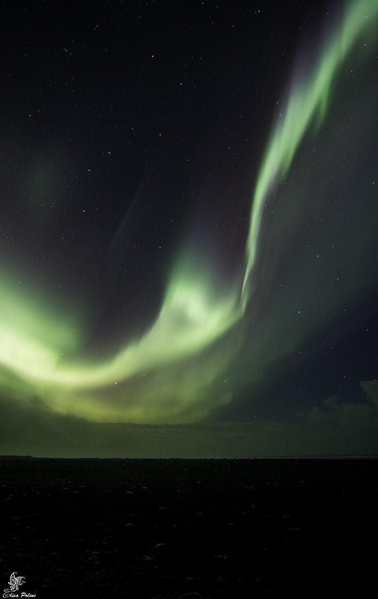 Aurora Boreale in Islanda: Reynisfjara