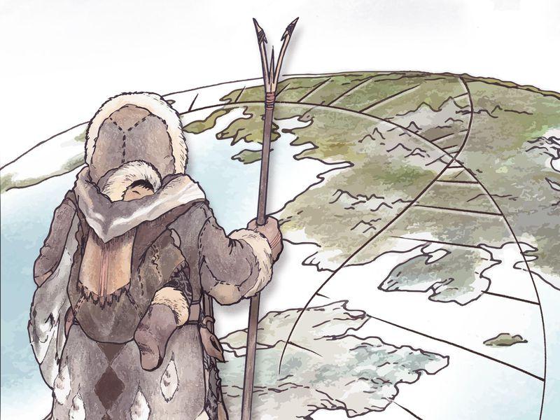 Siberia: antiche popolazioni artiche (Illustrazione di Kerttu Majander, Design by Michelle O'Reilly)