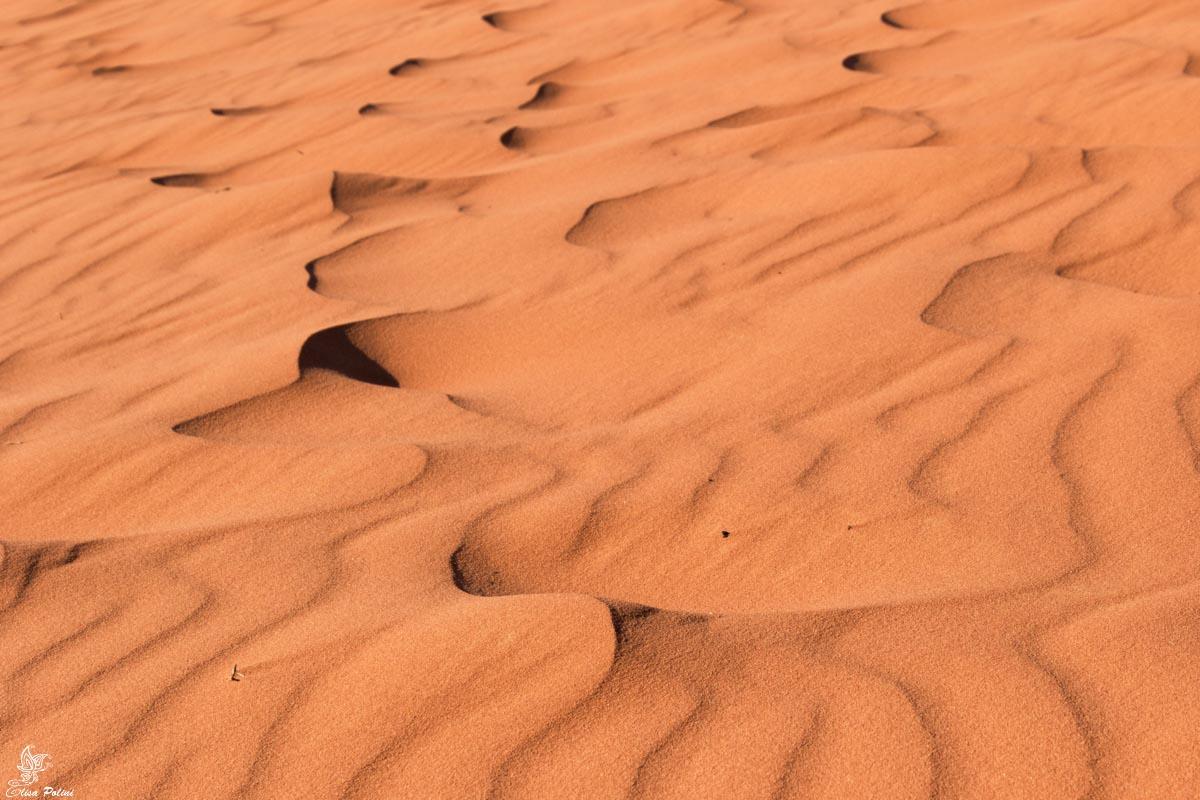 Onde sabbiose nel Wadi Rum