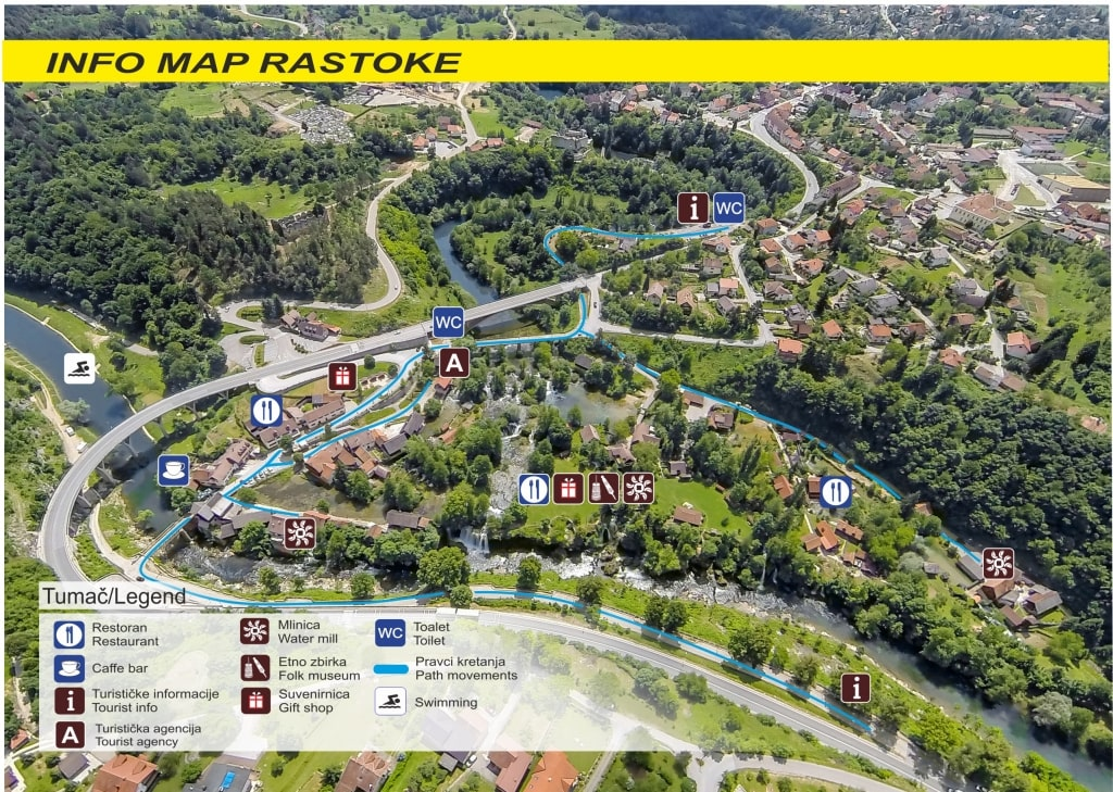 Mappa di Rastoke