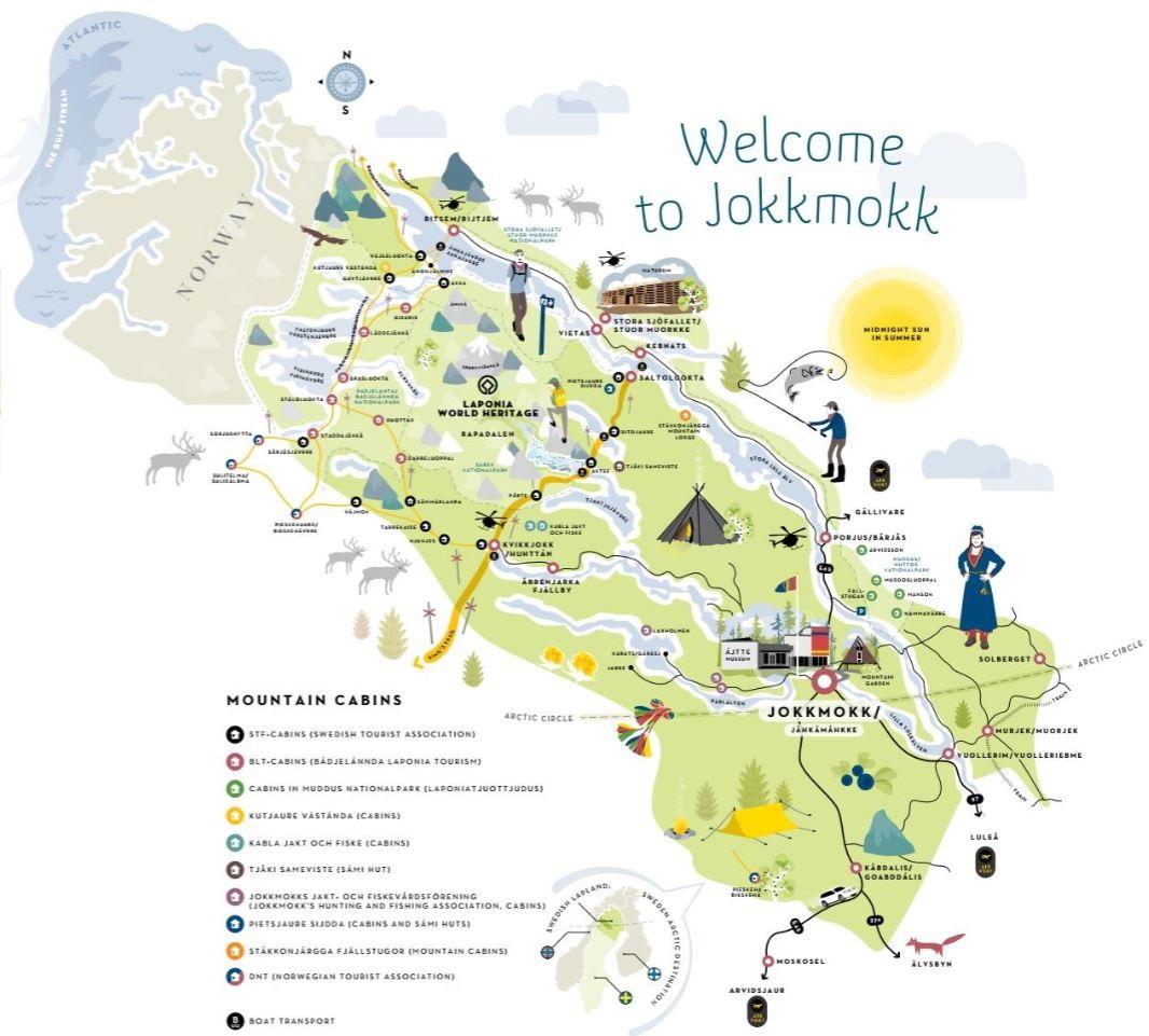 Jokkmokk: mappa estiva