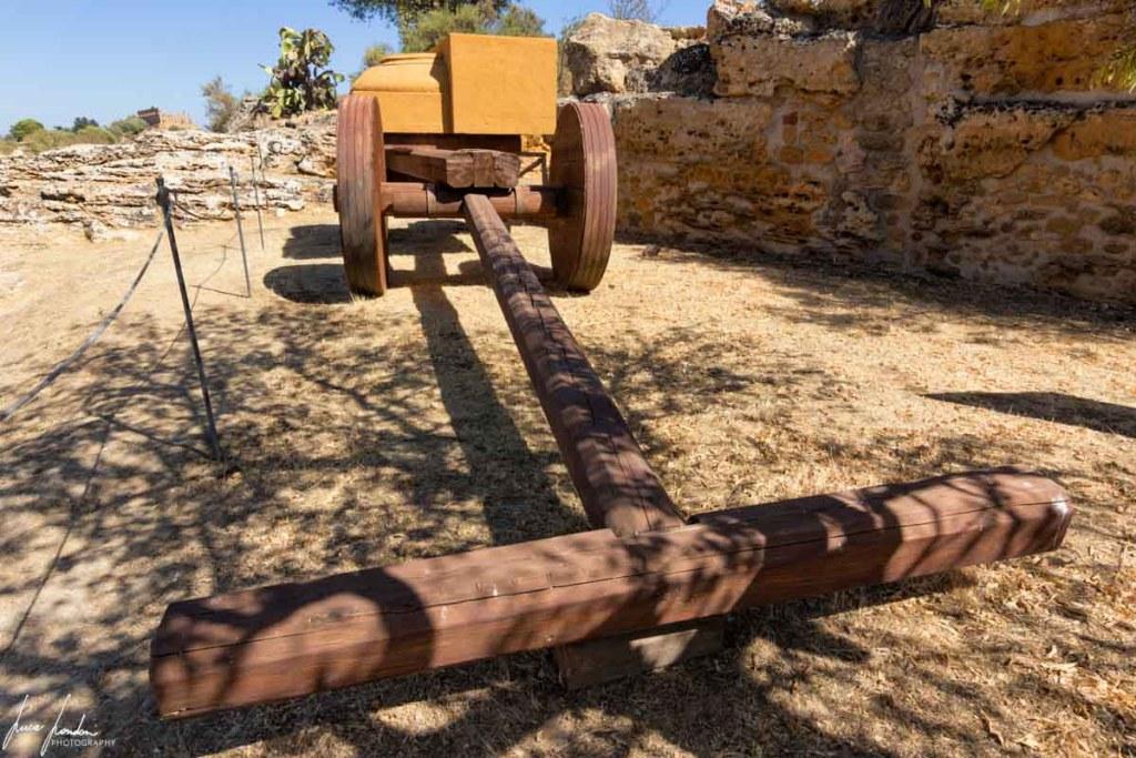 Valle dei Templi: ricostruzione di un carro