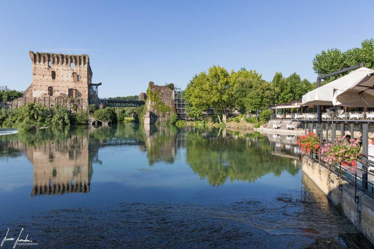 Ponte Visconteo visto da Borghetto sul Mincio