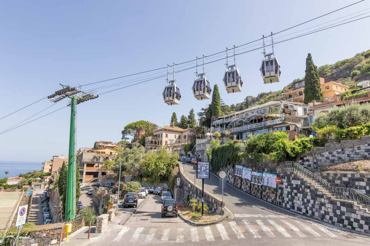 Funivia di Taormina per l'Isola Bella